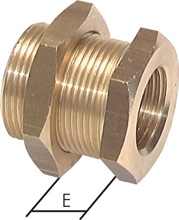 Bulkhead screw connections, up to 40 bar