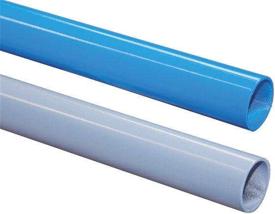 Aluminium Rohr 28 X 25mm Grau Ral 7001 Pulverbeschichtet