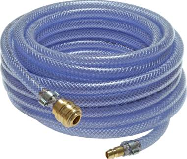 PVC hoses with fabric braiding - complete with coupling socket and plug NW 7.2
