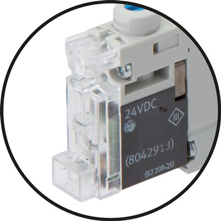 detailed view: Connection with rectangular plug H