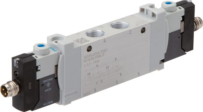 "Festo solenoid valves G 1/8"", Model series VUVG LK14"
