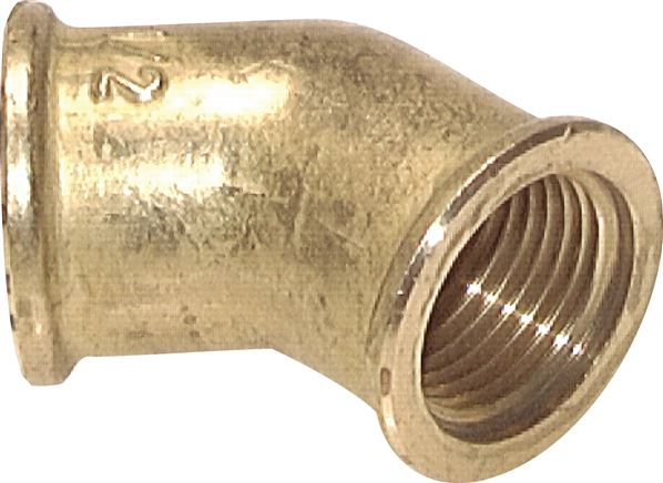 "coude 45 ° Rp 3/8"" (fil. femelle), 16 bar laiton (W 3845 MS)"