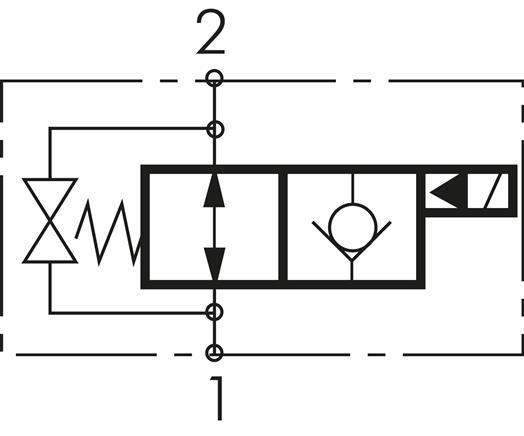 Gut 2/2-Wege Ventil, stromlos offen (NO), einseitig - Landefeld  AB63