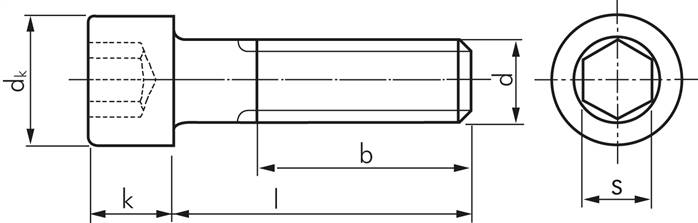 Hervorragend Zylinderschrauben mit Innensechskant, DIN 912 / ISO 4762  IO59