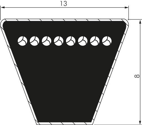 17x2388 Li  klassischer Keilriemen nach DIN2215 B94