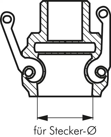 Drawing: Sizing for camlock coupling sockets