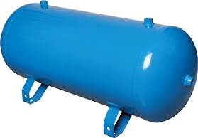 compressed air reservoir 5 l, 0 - 11bar, modro lakirano (RAL 5015)