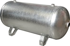 compressed air reservoir 5 l, 0 - 11bar, Jeklo, pocinkano