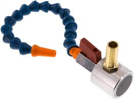 "Adjustable coolant hose, 1/4"", Set with magnetic foot: 1 adjustable coolant hose (16 modules) with t"
