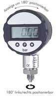 Digital pressure gauge -1 to 0 bar, Continuous operation