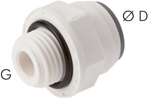 "Straight push in fittings G 1/8""-4mm, IQS-LE (EPDM seal)"