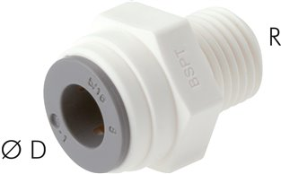 "Straight push in fittings R 1/8""-4mm, IQS-LE (EPDM seal)"