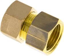 "Screw-compression ring fitting G 1/2""-14 (M20x1,5)mm, brass"