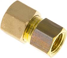 "Screw-compression ring fitting G 1/4""-10 (M16x1,5)mm, brass"