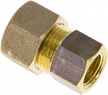 "Screw-compression ring fitting G 1/4""-12 (M18x1,5)mm, brass"
