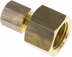 "Screw-compression ring fitting G 1/4""-4 (M8x1)mm, brass"