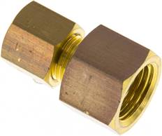 "Screw-compression ring fitting G 1/4""-6 (M10x1)mm, brass"