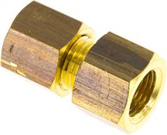 "Screw-compression ring fitting G 1/8""-6 (M10x1)mm, brass"