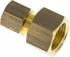 "Screw-compression ring fitting G 3/8""-8 (M12x1)mm, brass"