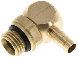 "Angle connector, G 1/4""-6mm inside, copper"
