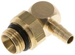 "Angle connector, G 1/8""-4mm inside, copper"