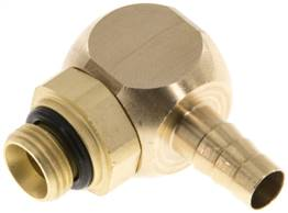 "Angle connector, G 1/8""-6mm inside, copper"