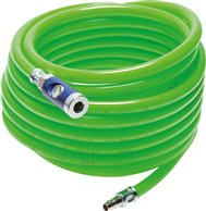 PVC fabric hose 6x12mm, 5m. with coupling & plug