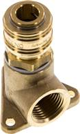 "Pipeline socket with coupling socket, G 1/2"", Brass"