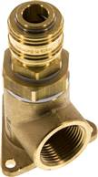 "Pipeline socket with coupling socket, G 3/4"", Brass"